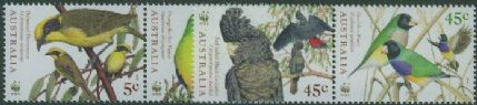 AUS SG1794-7 Endangered Species, Birds set of 4 in pairs